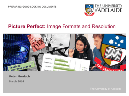 Slides - University of Adelaide