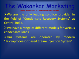 Leading Manufacturer of Condensate Recovery Systems