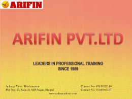 Courses Offered - Arifin Academy
