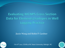 MCNP5 Data for Well Logging
