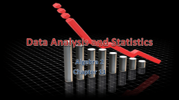 11 Data Analysis and Statistics