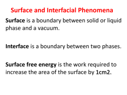 Surface and interfac..