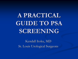 PSA Screening - Society of Urologic Nurses and Associates