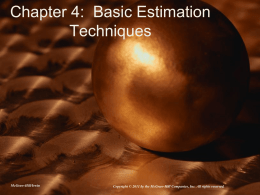 Basic Estimation Techniques
