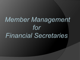 Member Management (PP)