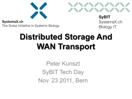 Distributed Storage And WAN Transport