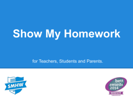 Show my Homework Introduction