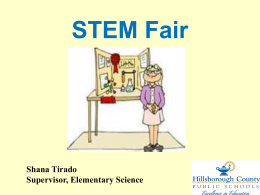 STEM Fair PowerPoint - Tampa Palms Elementary School