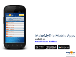 MakeMyTrip 2013.ppt