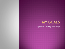 My Goals/Aspirations PowerPoint