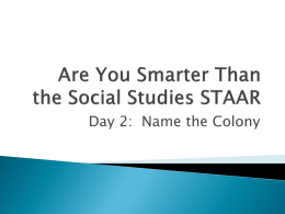 Are You Smarter Than the Social Studies TAKS