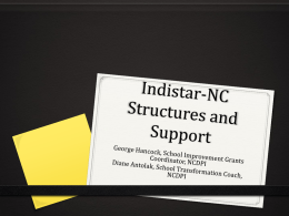 Indistar-NC Tiered Support