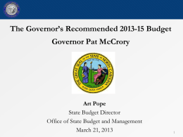 PPT - Office of State Budget and Management
