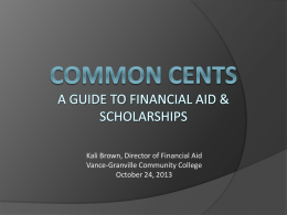 Common cents - Vance-Granville Community College