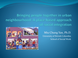A place-based approach of social integration