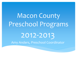 Macon County Preschool Classrooms