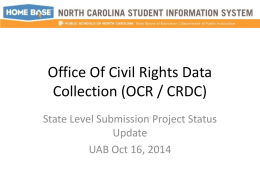 Office Of Civil Rights Data Collection (OCR / CRDC)