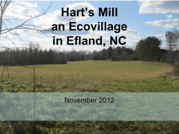 Ecovillage in Efland, NC