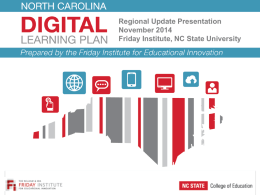 NC Digital Learning Plan - Southeast Education Alliance