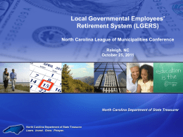 Government Retirement Systems - North Carolina League of