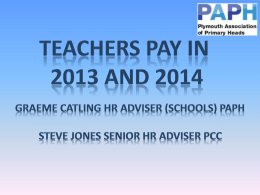 Teachers pay presentation