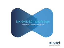 Mitel Powerpoint Template - MX