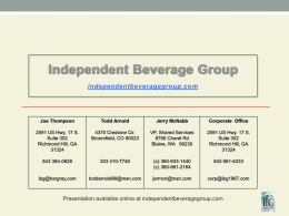Power Point - Independent Beverage Group