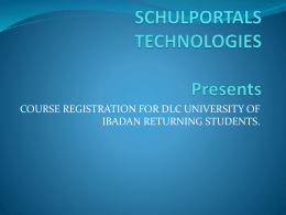 Course Registration Process - UI DLC Degree Portal