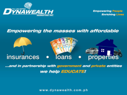 The Unlimited DynaWealth Marketing Inc.