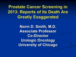 Prostate cancer Screening in 2013