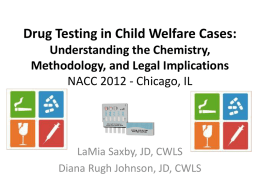 Understanding Drug Tests Georgia Youth Law Conference