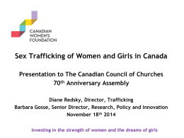 HT Canadian Womens Foundation presentation – November 18 2014