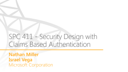 Security Design with Claims Based Authentication