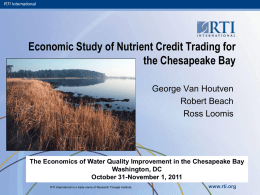 Economic Study of Nutrient Credit Trading for the