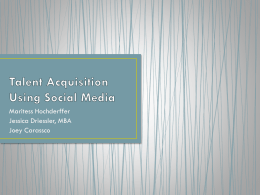 Talent Acquisition Using Social Media