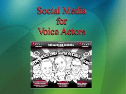 Social Media VO: Surviving and Thriving in Social Media for your