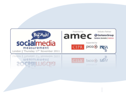 Social Media Measurement – Big Ask conference