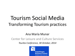 Motivations for Sharing Tourism Experiences through