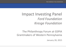 Kresge Ford ppt slides - Grantmakers of Western Pennsylvania