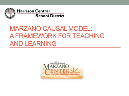 Orientation to the Marzano Framework PPT