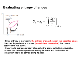 Lecture materials on introduction to Entropy and second law