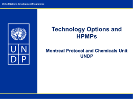 iii. Technology Options and HPMPs