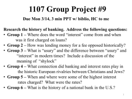 1107 Group Project #9 Due Mon 3/14, 3 min PPT w/ biblio, HC to me