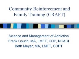CRAFT - Washington Association of Alcoholism and Addiction