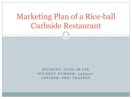 Marketing plan of a rice-ball curbside restaurant