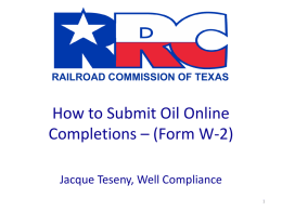 Presentation - Railroad Commission