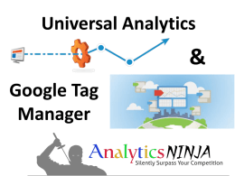 Universal Analytics & Google Tag Manager