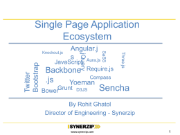 Building Single Page Applications – Know the Ecosystem