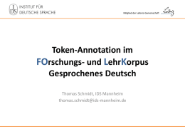 Token-Annotation in FOLK