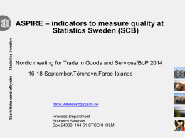 indicators to measure quality at Statistic Sweden